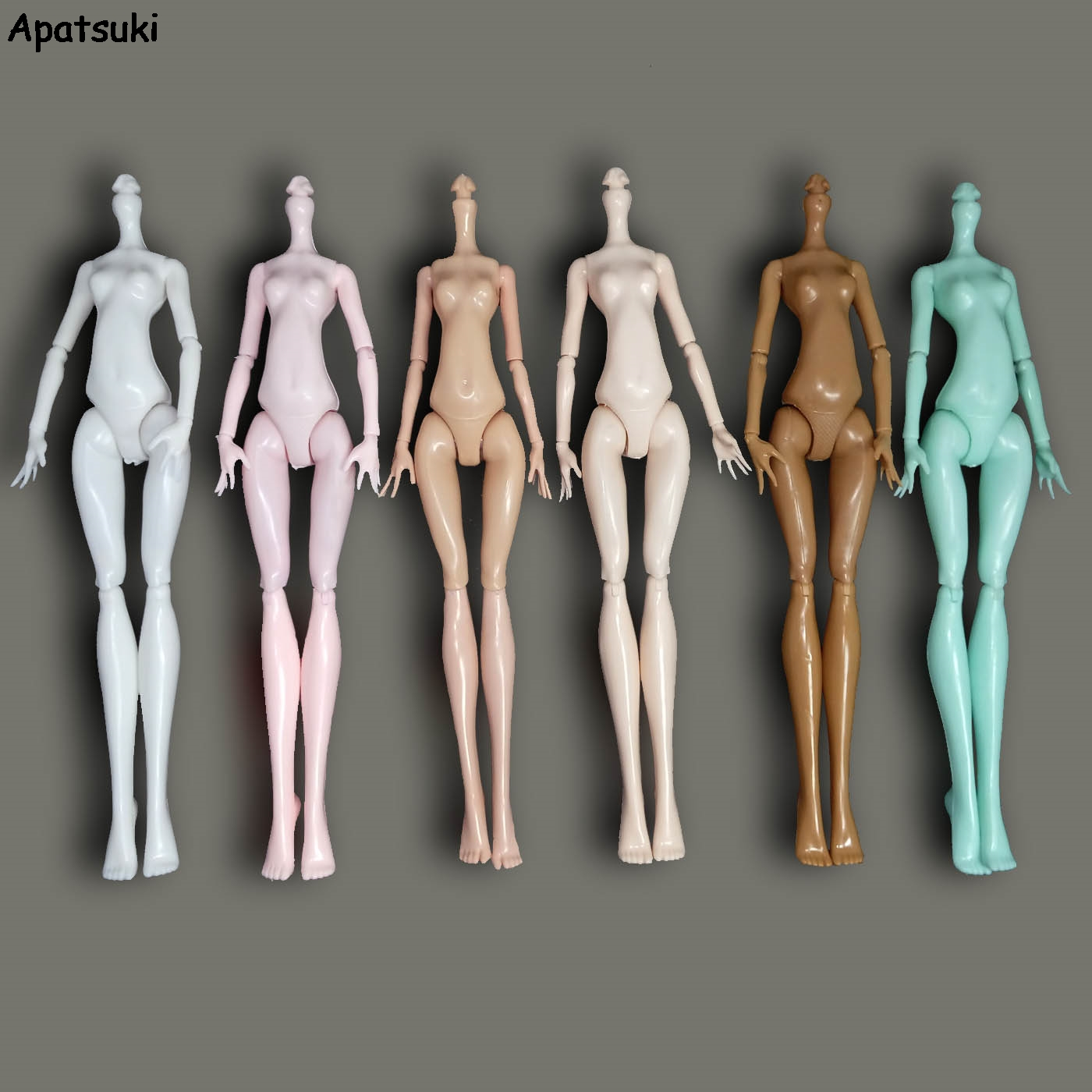 6pcs/lot DIY Imitation Naked Body Without Head For Monster High Dolls Fairytales 11 Joints Bodies Demon Monster Doll Accessories