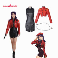 Captain Katsuragi Misato Zerochan Cosplay Costume Jacket Cosplay Woman Halloween Outfit