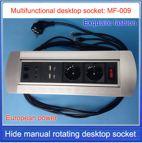 EU socket / HDMI Desktop socket / hidden manual rotation / multimedia network RJ45 HDMI USB charging desktop socket /MF-009 new l0211 multimedia desktop socket multifunctional desktop socket outlet three plug socket network meeting