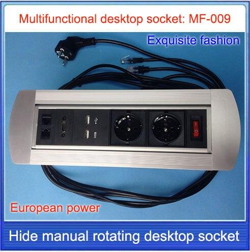 Tomada de Mesa Tomada de Carregamento do Desktop Tomada Hdmi Escondido Rotação Manual Rj45 Rede Multimídia Usb Mf-009 ue –