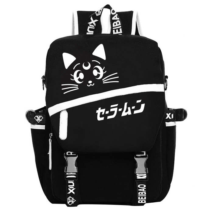 Anime Sailor Moon Cosplay Sailor Moon Cos Night backpack canvas bag male and female student backpack child birthday gift anime mirai nikki cosplay gasai yuno cos anime bag shoulder bag messenger bag computer bag student handbags child birthday gift