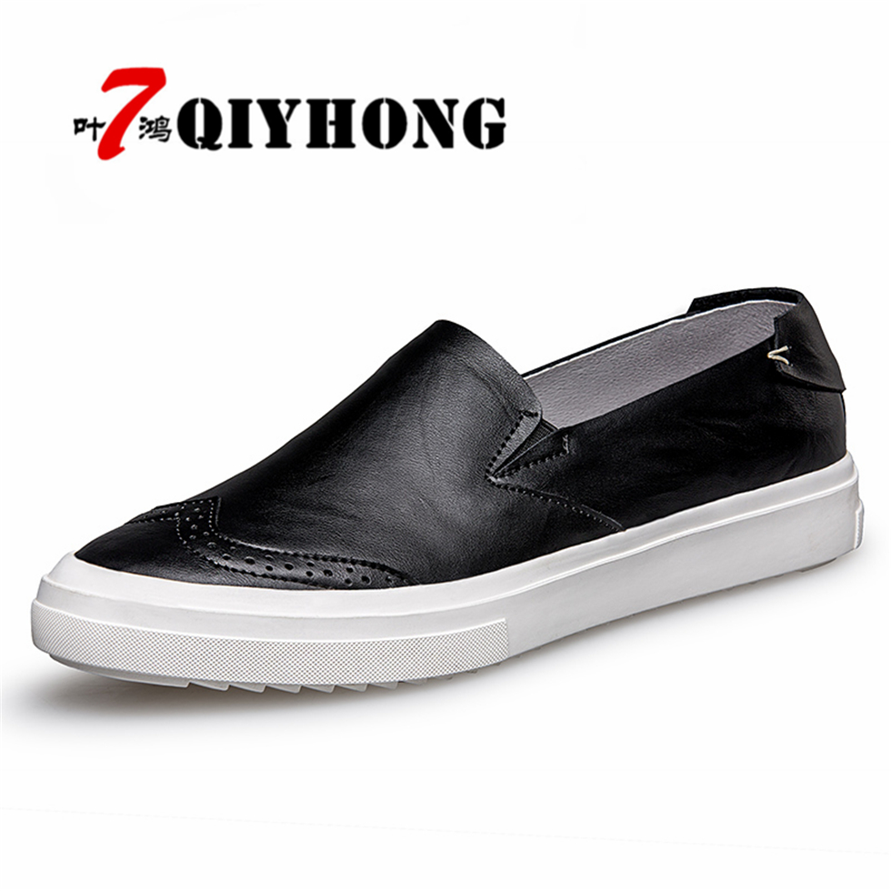 QIYHONG New Men Casual Shoes Man Spring Autumn Loafers England Fashion Men Breathable Super Zapato Breathable Slip On Flats  2017 brand new men spring fashion breathable slip on shoes stretch fabric light shoes casual flats jogging loafers shoes wb 36