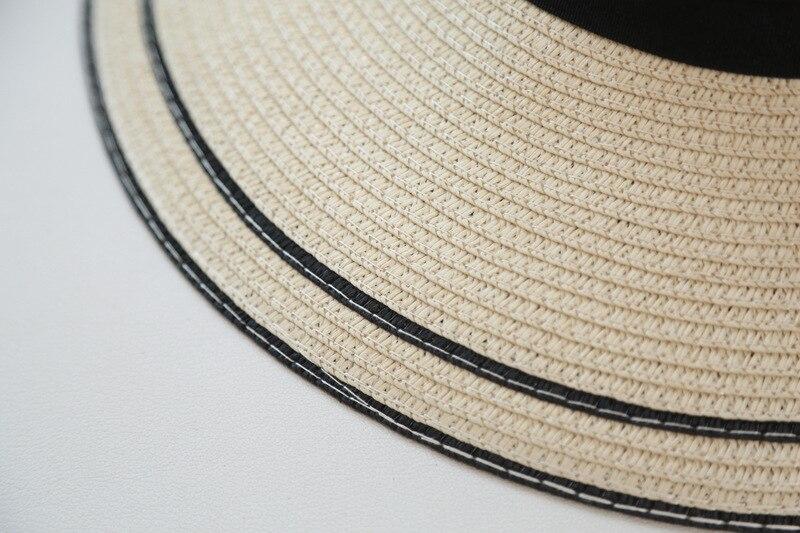 Panama de plage en paille