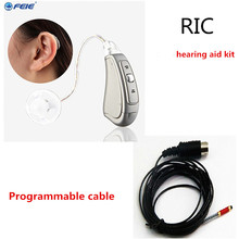 Фотография 2PCS feie medical equipment high frequency listen up personale di apparecchio acustico MY-19with programmable cable freeshipping