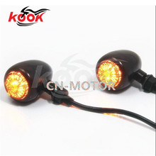 pro 12V LED motorcycle turn signals yellow lighting motorbike Indicator Blinker flashers font b lamp b