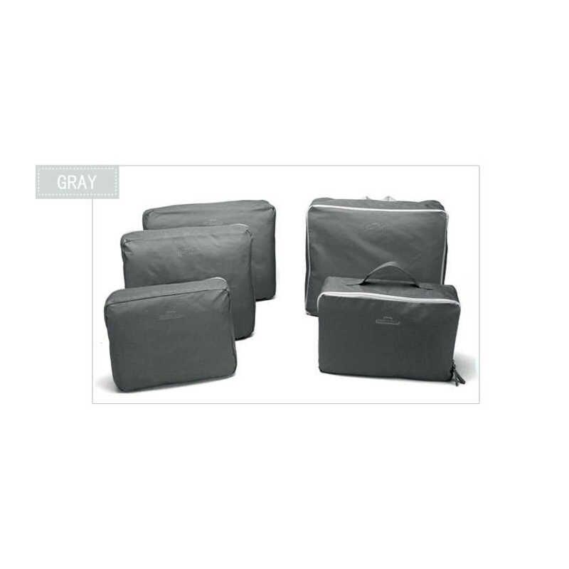 5 шт./компл. Модные прочные водонепроницаемые Туристические сумки из полиэфира для мужчин и женщин багажное нижнее белье одежда сортировочная сумка Упаковка кубики