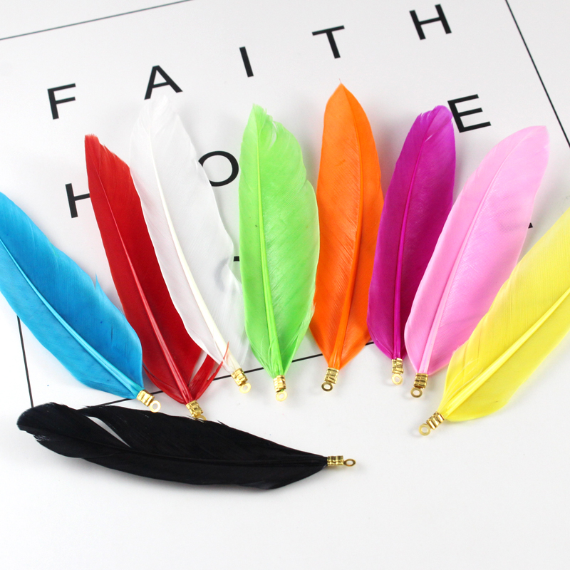 40PCS Colorful Goose Feathers - Great for weddings jewelery, Earring+Hair making -Perfect for Weddings and Dreamcatche