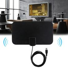 Flat Indoor HD Signal Amplifier Digital TV Antenna Conversion head HDTV 50 Miles Range VHF UHF black digital tv antenna for tv