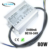 Excellent Quality 80W 2400mA LED Driver DC18 34V 8 10 Serise * 8 Parallel Watperproof IP67 Aluminum High Power Power Supply