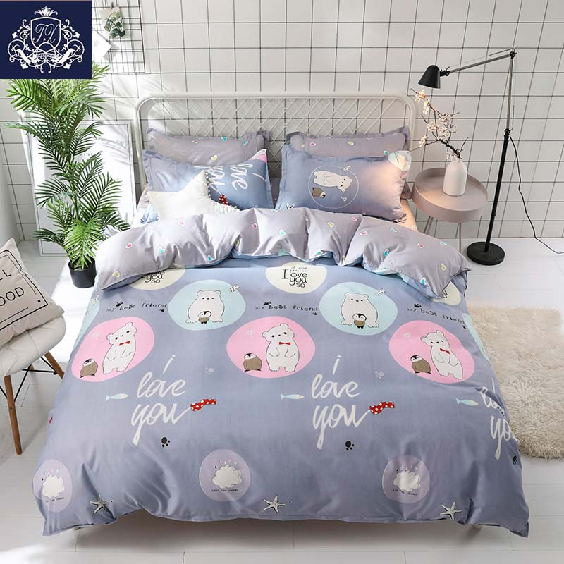 Lucky Cat Duvet Cover Queen Size Cartoon Style Bedding Linen For Kids Red Color Single Bed Sheets With Pillowcase Set In Sets From Home