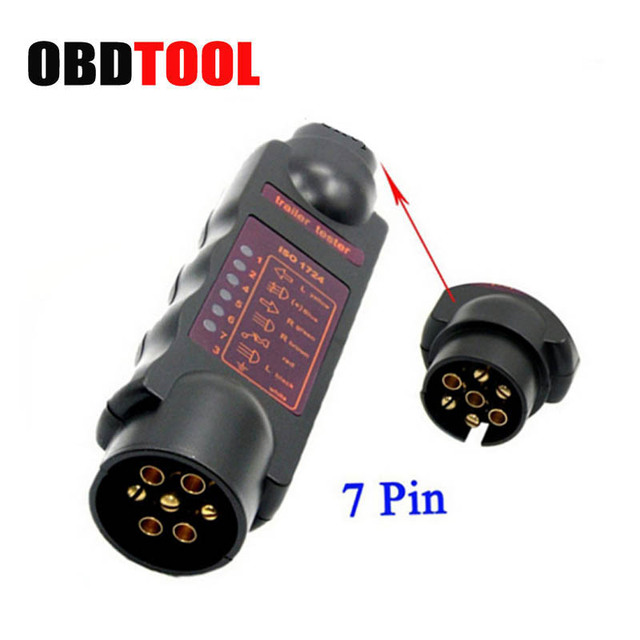 Vehicle 7 Pin 7pin Trailer Towing Light Cable Trailer Tester ...