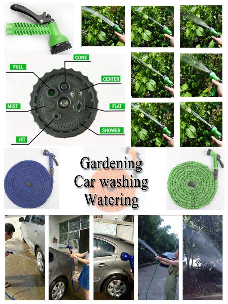 Hot Sale Magic 100FT Hose Irrigation Hose Flexible Garden Water Hose Green & Blue Water Expandable Garden Hose with Spray Gun