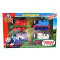 D957 Nueva Diecast magnética Thomas y Amigos tren eléctrico de juguete de Metal niños/tire hacia atrás/luz/música/pista de Juguete Niño 4 unids/lote