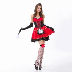 Image 4 - VASHEJIANG جودة عالية مثير ليتل الأحمر ركوب هود زي المرأة هالوين ازياء الأميرة فستان كرنفال تأثيري فستان بتصميم حالم