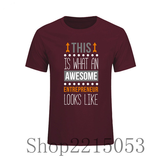 Male T Shirts this is what an awesome entrepreneur Funny Top Tees Short  Sleeve Cotton Men f14b916be732