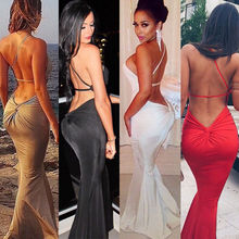 2016 New Design Women Summer Long Sexy Evening Party Ball Prom Gown Formal Dress Hot