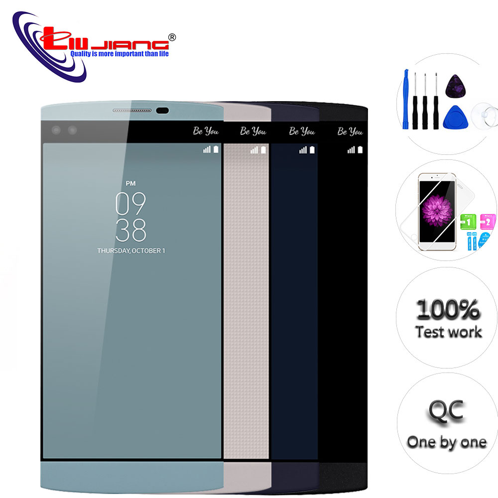 Original 5.7'' for <font><b>LG</b></font> <font><b>V10</b></font> <font><b>V10</b></font> H960 H968 H900 VS990 LCD <font><b>Display</b></font> Touch Screen with Frame Digitizer Assembly Pantalla Replacement image