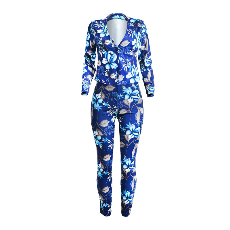 women pants suit set -2