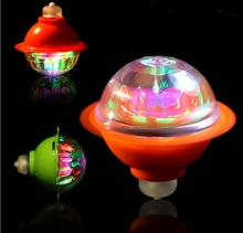 Color Flash LED Light Toy Music Gyro Peg-Top Spinner Spinning Classic Toys Hot Sell Kids Toy YH1042 spinning top gyro toy set color assorted