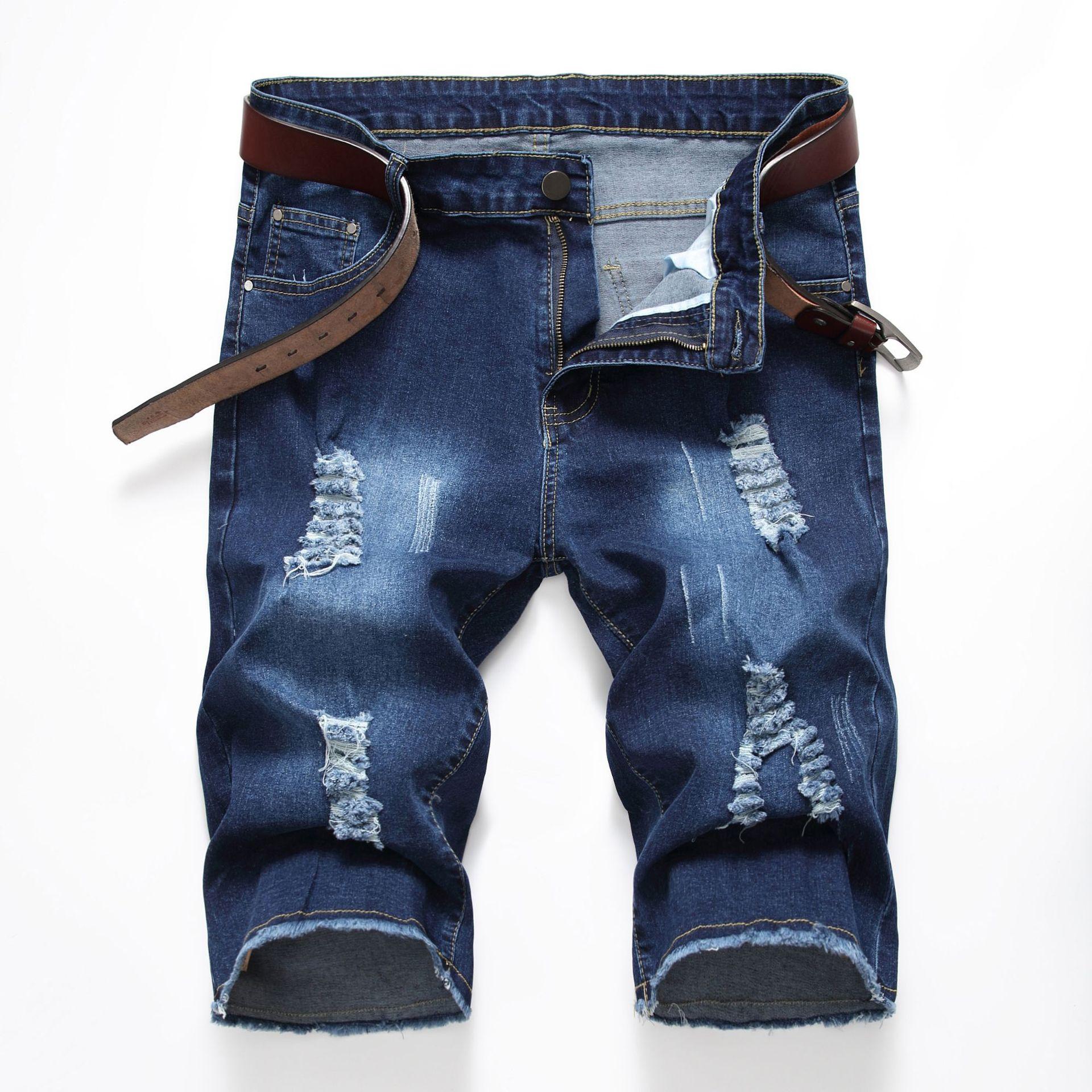 Hip Hop Ripped   jeans   for men Summer Man Pants   Jeans   Shorts Black 2019 Fashion Design