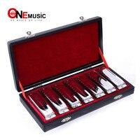 Harmonica SWAN SW1020 7T Bluesband 7 Piece Blues Harp Diatonic Harmonica Set w / Case + wipes