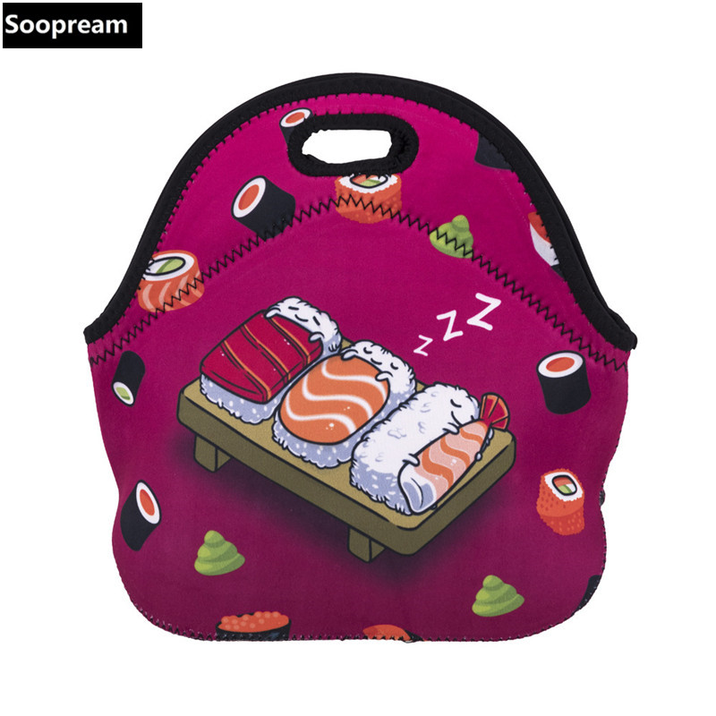 free shipping Japanese sushi bolsa termica lancheira neoprene bread lunch bag coffee thermal bag lunch boxes women snacks tote