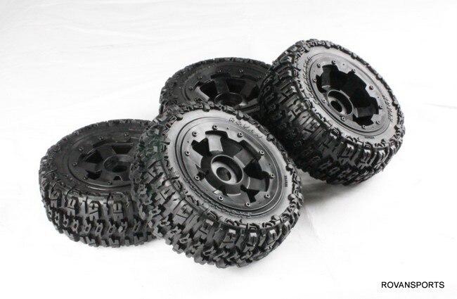 Baja шипованные покрышки Набор для 5 T грузовик 85101 ступицы колеса Набор шин
