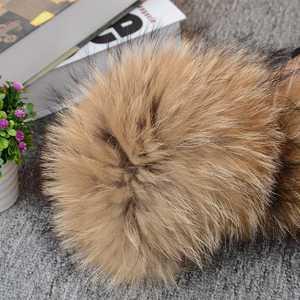 Image 5 - 2018 Natural Fur Collar Scarf 80 cm 120 cm Genuine 100% Thick Long Fur Raccoon Scarves Women Winter Coat Neck Warm Fur Collars