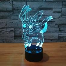 Super Quality font b 3D b font font b LED b font Lamp Game Sylveon Figure