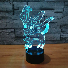 Super Quality 3D LED Lamp Game Sylveon Figure Toys Xian Yibei Nightlight Acrylic Sleeping Light for Kids Best Bedroom