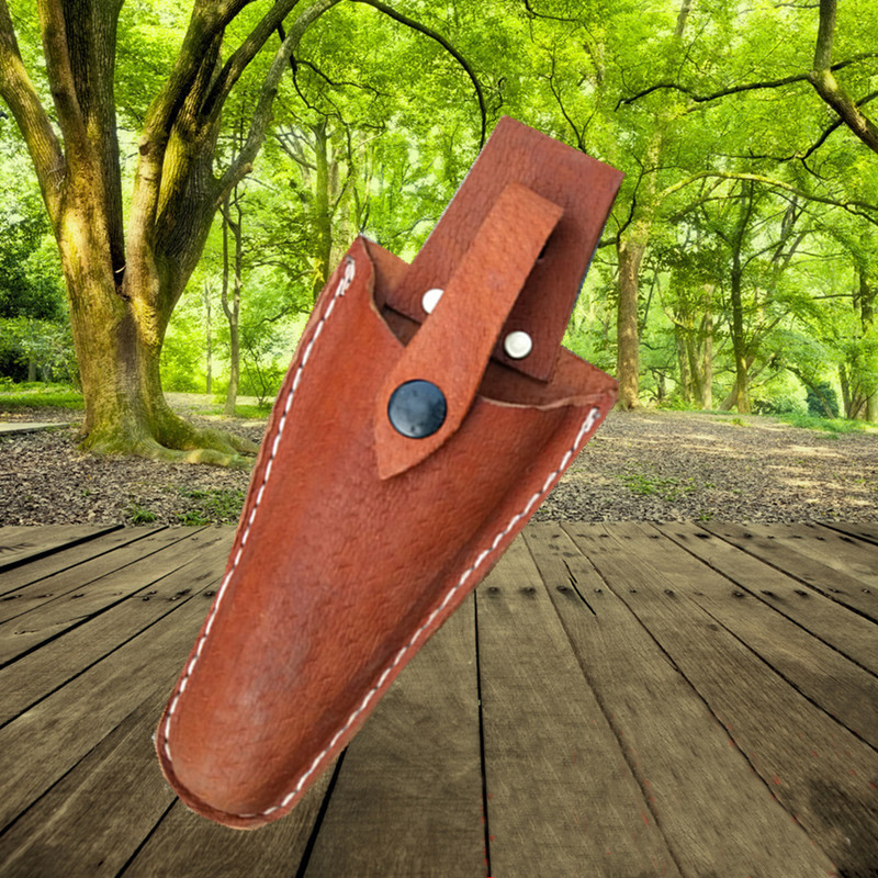 High Quality Pruning Scissors Tool Bag Durable Leather Material Scissors Storage Bag Portable Garden Tool Bag