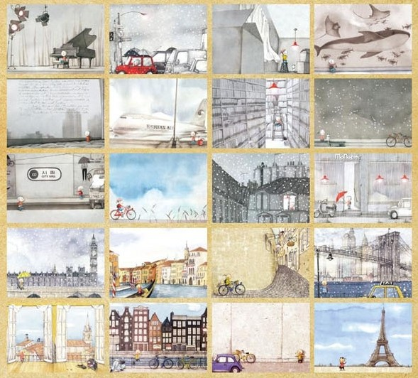 36 My Travel Stories Postcard Greeting Card Assorted Birthday