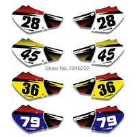 NICECNC Custom Number Plate Background Graphics Sticker & Decal For Honda XR250 XR400 1996 2004 1998 2000 2002 2003 XR 250 400