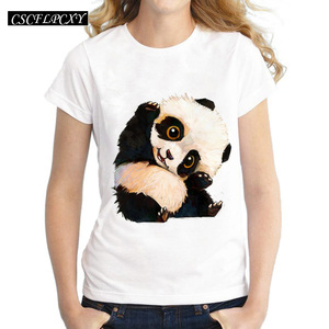 Harajuku Panda Print T Shirt W