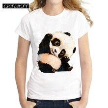 Harajuku Panda Print T Shirt Women Tshirt 2016 Summer Style Short Sleeve