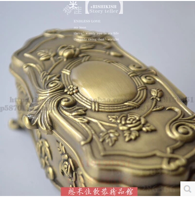 Европейская бронзовая коробка для зубочисток ватная палочка держатель для зубочисток отель KTV Клуб посуда YQT001