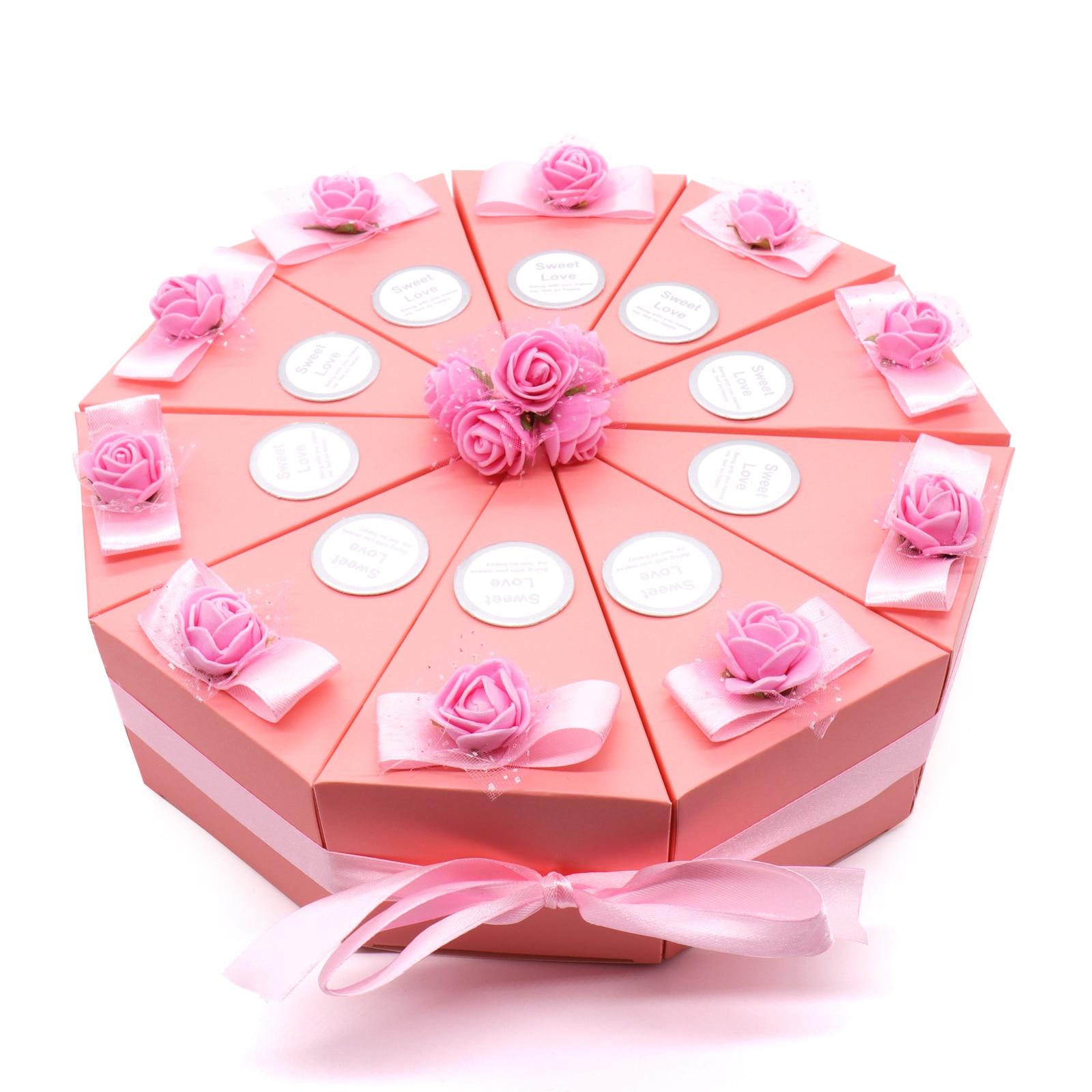 DIY Cake Shape Birthday Decoration 10 Piece/Set Candy Box With ...