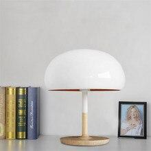 Lámpara de mesa Vintage LED, lámpara de mesa, hongo blanco Retro para dormitorio, cabecera, sala de estar, iluminación moderna para el hogar TA046