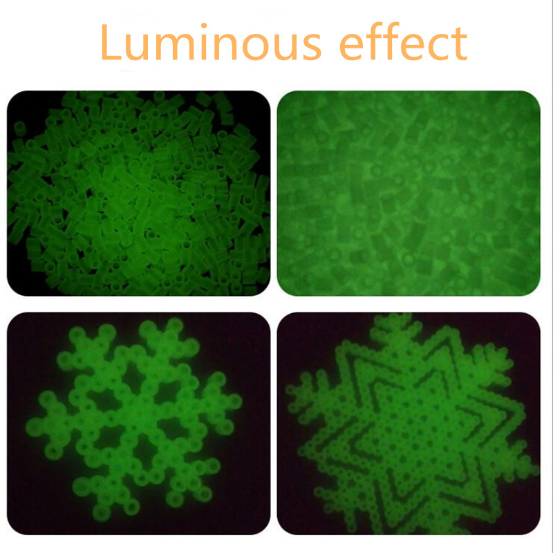 500PCS/Bag Luminous Hama Beads 8 Colors 5mm Perler Beads 3D Puzzle Toys For Children Jigsaw Puzzle Educational Toys Brinquedos
