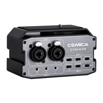CoMica CVM AX3 Dual XLR/6.35MM/3.5MM Mics Audio Mixer professional Multi interface Mixing for Shooting Video Camera Camcorder