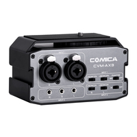 CoMica CVM AX3 Dual XLR/6.35MM/3.5MM Mics Audio Mixer professional Multi interface Mixing for Shooting Video Camera Camcorder