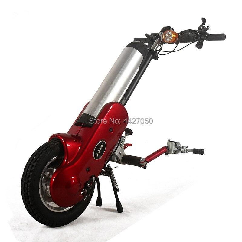 Nouveau design puissant dispositif de fauteuil roulant électrique handbike pourrait utiliser avec fauteuil roulant de sport distance de voyage de fauteuil roulant manuel 35 km