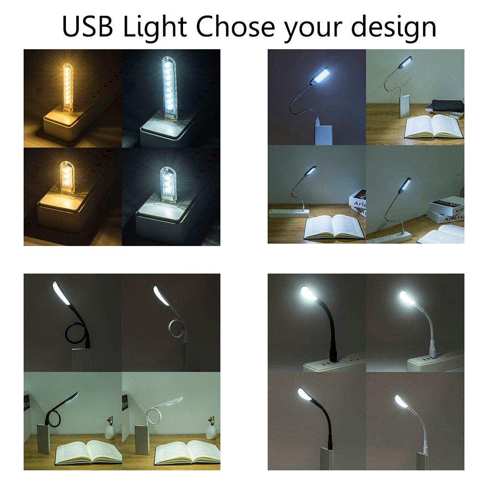 Bendable Usb Led Book Light 5v Power Bank Table Lamps Reading Lamp Circuit Zmjuja Portable Night Lights For Pc
