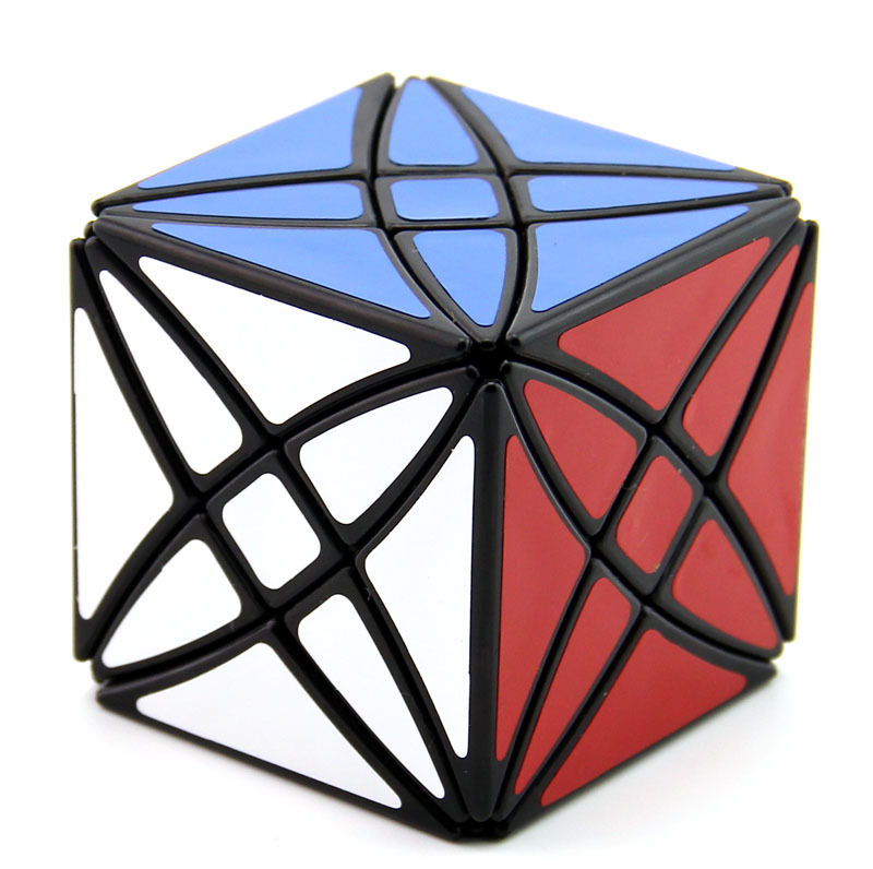 Strange Shape Cube  Axis Cube 8 Axis Hexahedron Magic Cube Flower Rex Puzzle 58mm Speed Puzzle Toys For Children