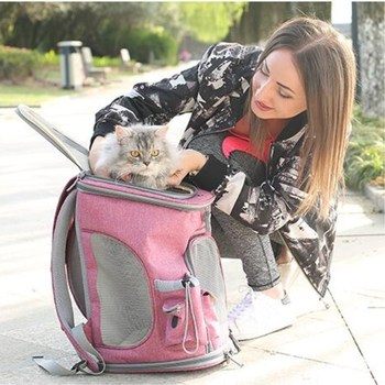 PUPISHE 2019 Luxury Oxford Pet Carrier Backpack For Dog Portable Travel Cats Animal Handbag Outdoor Shoulder Bags Yorkie 5