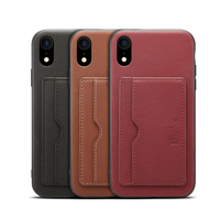 NEWISDOM Original official for iPhone X case leather With Card Pocket iPhoneX Back Cover iPhoneXs max Kickstand soft xr shock