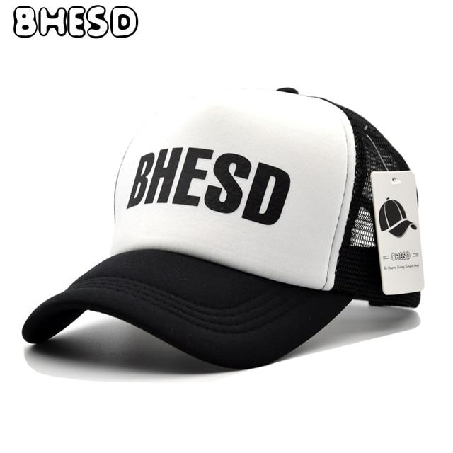 1030096c5a16 2017 New BHESD Trucker Hat Women Mesh Baseball Cap Men Summer bonnet Caps  Net Bones Fitted Dad Hat Male Casquette Gorras JY-22