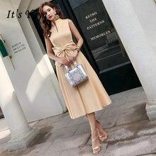 Женское коктейльное платье it's yiiya элегантное атласное