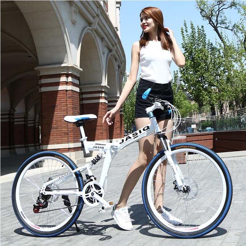 HTB1bM0rXcrHK1JjSspfq6zsrXXaT 26 inch mountain bike 21 speed Folding mountain bicycle double disc brake bike New folding mountain bike Suitable for adults