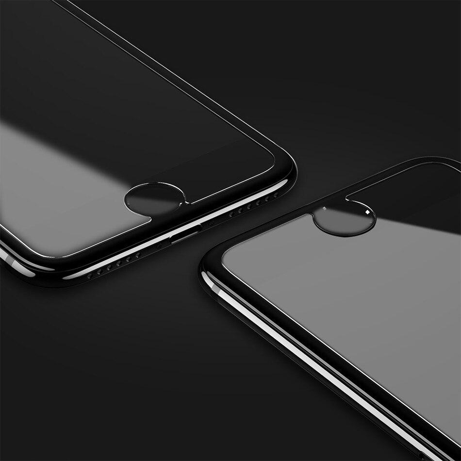 64c7825eba6 Protector de pantalla FLOVEME para iPhone 7 Glass para iPhone 5 5S SE  vidrio templado 7 8 Plus 6 5S Plus Protector de película 2.5D 9 H